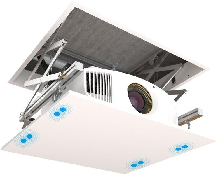 Fixation ascenseur videoprojecteur
