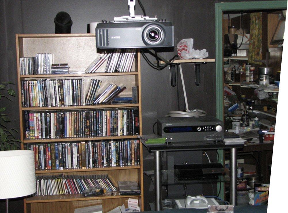 Intégration vidéoprojecteur home cinema dans faux-plafond