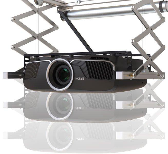 Support motorisé videoprojecteur réglage