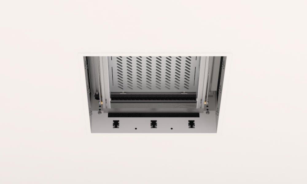 Ouverture support motorisé video-preojecteur