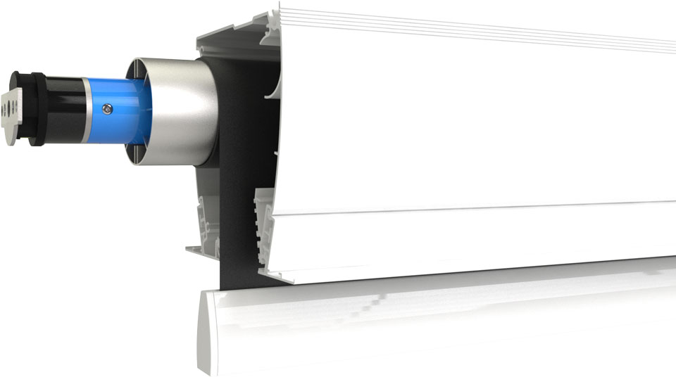 Ecran de projection motorisé silencieux