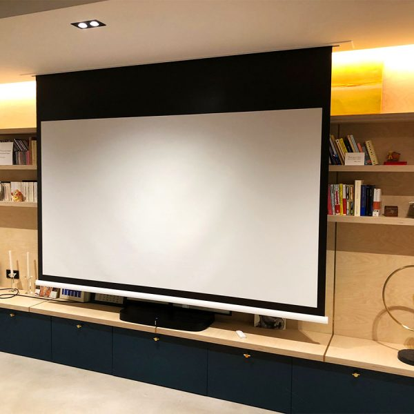 Installation Home Cinema invisible