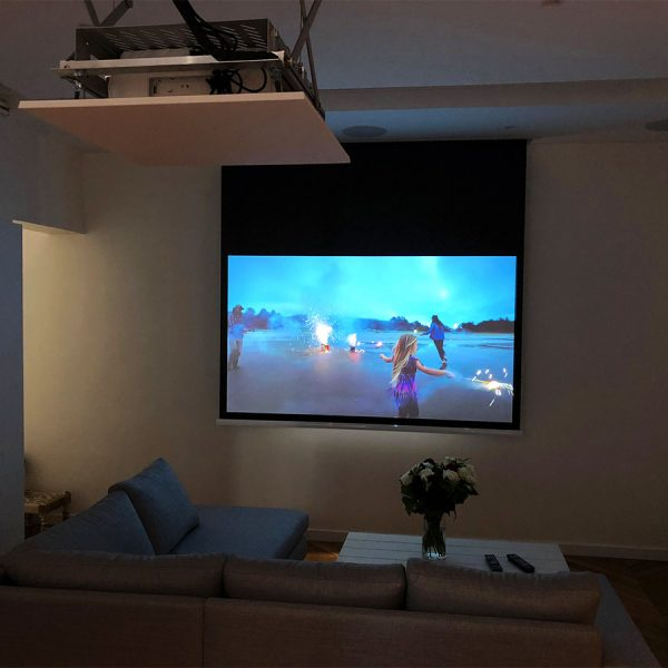 Ecran vidéoprojecteur plafond